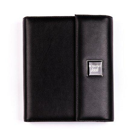 Стильный мужской «Богушбук» класса «люкс»,  выполненный из натуральной итальянской кожи черного цвета